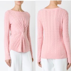 Sies Marjan Pink Zoe Twisted Cable Knit Sweater
